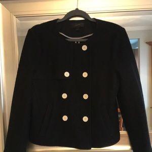 JCrew black wool pea coat
